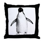 Adelie Penguin Graphic Throw Pillow