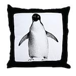 Adelie Penguin Graphic Throw Pillow