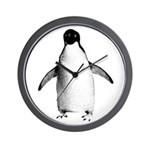 Adelie Penguin Graphic Wall Clock