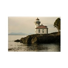 Lime Kiln Lighthouse Rectangle Magnet