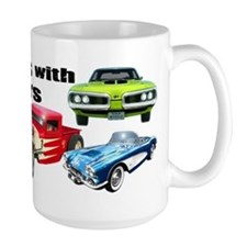 Funny Retro auto racing Mug