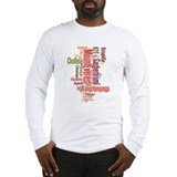 wordle 1 mountain list Long Sleeve T-Shirt