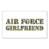 Camo Girlfriend Rectangle Decal