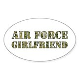 Camo Girlfriend Oval Decal