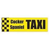 Cocker Spaniel Taxi Bumper Bumper Sticker