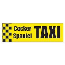 Cocker Spaniel Taxi Bumper Car Sticker