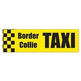Border Collie Taxi Bumper Bumper Sticker