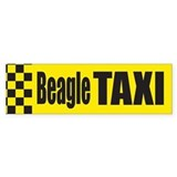 Beagle Taxi Bumper Bumper Sticker