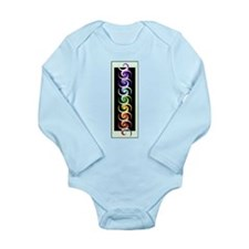 Chakra Spirals with labels Long Sleeve Infant Body