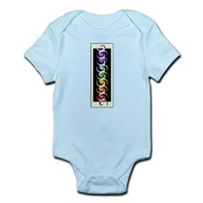Chakra Spirals with labels Infant Bodysuit
