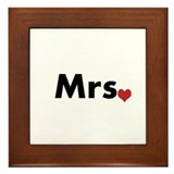 Mr and Mrs Framed Tile