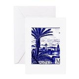 1947 Morocco Marrakesh Postage Stamp Greeting Card