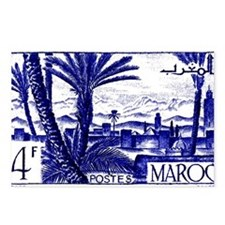 1947 Morocco Marrakesh Postage Stamp Postcards (Pa