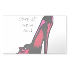 STOMP OUT Animal Abuse Decal