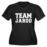TEAM JAROD Women's Plus Size V-Neck Dark T-Shirt