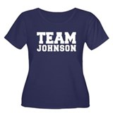 TEAM JOHNSON Women's Plus Size Scoop Neck Dark T-S
