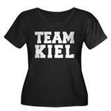 TEAM KIEL Women's Plus Size Scoop Neck Dark T-Shir