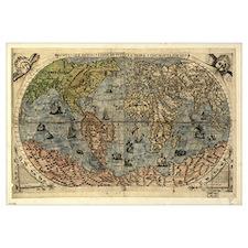 16th century world map