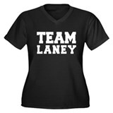 TEAM LANEY Women's Plus Size V-Neck Dark T-Shirt