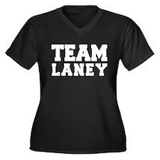 TEAM LANEY Women's Plus Size V-Neck Dark T-Shirt