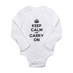 Keep Calm And Carry On Long Sleeve Infant Bodysuit