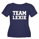 TEAM LEXIE Women's Plus Size Scoop Neck Dark T-Shi