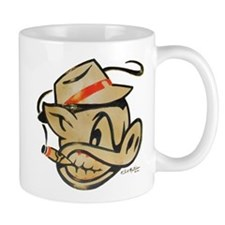 Nicotine Stained Smokin Pig by Elliott Mattice Mug