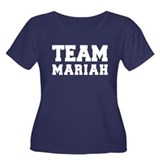 TEAM MARIAH Women's Plus Size Scoop Neck Dark T-Sh