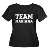 TEAM MARIANA Women's Plus Size Scoop Neck Dark T-S