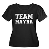 TEAM MAYRA Women's Plus Size Scoop Neck Dark T-Shi
