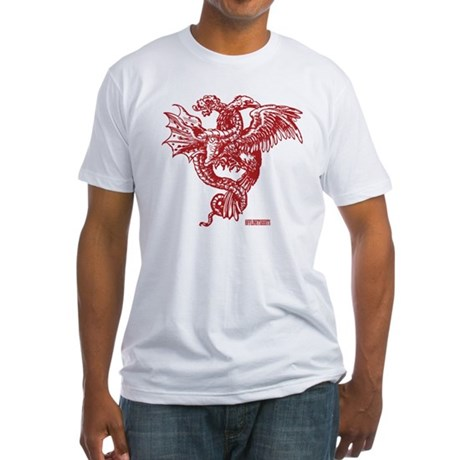 Winged Monster Fight Fitted T-Shirt
