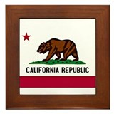 California Flag Framed Tile