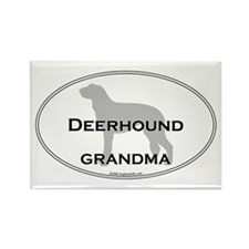 Deerhound GRANDMA Rectangle Magnet