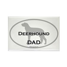 Deerhound DAD Rectangle Magnet