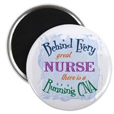 "Behind Nurse, Running CNA 2.25"" Magnet (100 pack)"