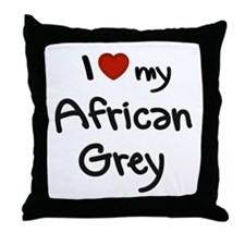 African Grey Love Throw Pillow