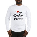 Quaker Parrot Love Long Sleeve T-Shirt