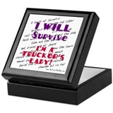 I WILL Survive (lady) Keepsake Box