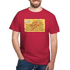 """""""Terrorist Hunting Permit"""" T-Shirt"""
