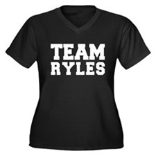 TEAM RYLES Women's Plus Size V-Neck Dark T-Shirt