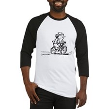 muddle headed wombat on bike Baseball Jersey