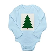 Woodblock Christmas Tree Long Sleeve Infant Bodysu