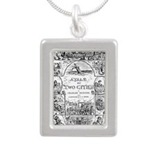 Funny Bind Silver Portrait Necklace