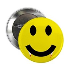 "Smiley Fangs 2.25"" Button"