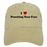 I Love Punching Your Face Baseball Cap