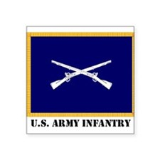 Infantry Flag Rectangle Sticker