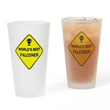 Cute Falcons Drinking Glass