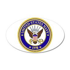 US Navy Emblem 20x12 Oval Wall Decal