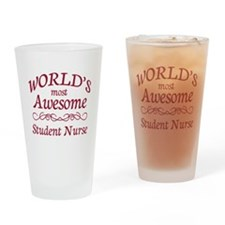 Awesome Student Nurse Drinking Glass
