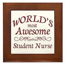 Awesome Student Nurse Framed Tile